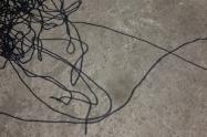 Tête de clown en fil de fer tordu