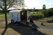 Roulotte, campement de gitans aux environs de Lessay (sept. 2013)